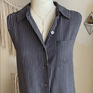 Tops - Vintage stripped button up with collar